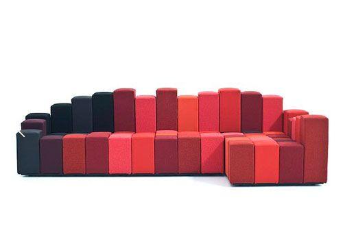 创意组合沙发让你随心所欲的组合刹车脚轮